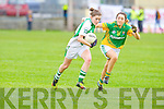 Na Gaeil's Maire Quirke gets away from Shannon Gaels Connie Doyle in the All Ireland Junior Club semi-final at Killeen on Sunday.