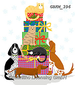 Kate, CHRISTMAS ANIMALS, WEIHNACHTEN TIERE, NAVIDAD ANIMALES, paintings+++++Pets on Parcels,GBKM396,#xa# ,dog,dogs