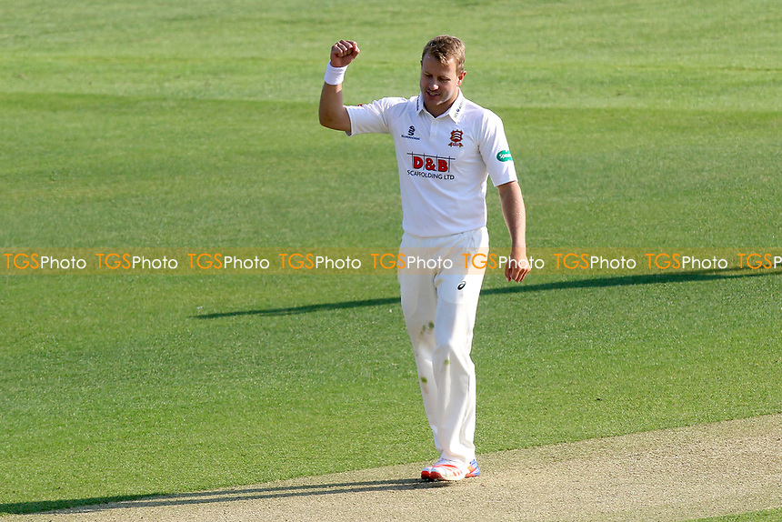 Neil Wagner of Essex celebrates taking the wicket of Stephen Parry during Essex CCC vs Lancashire CCC, Specsavers County Championship Division 1 Cricket at The Cloudfm County Ground on 7th April 2017