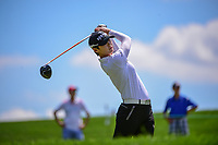 Sung Hyun Park (KOR) watches her tee shot on 2 during Sunday's final round of the 72nd U.S. Women's Open Championship, at Trump National Golf Club, Bedminster, New Jersey. 7/16/2017.<br /> Picture: Golffile | Ken Murray<br /> <br /> <br /> All photo usage must carry mandatory copyright credit (&copy; Golffile | Ken Murray)