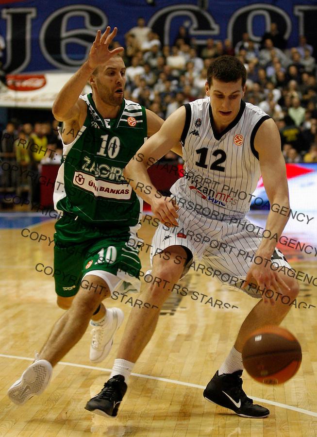 Dragan Milosavljevic (12), Euroleague basketball match, Group H, Partizan Belgrade vs Zalgiris,  Belgrade, Serbia, Thursday, 25. November 2010. (credit & photo: Pedja Milosavljevic / +381 64 1260 959 / thepedja@gmail.com)