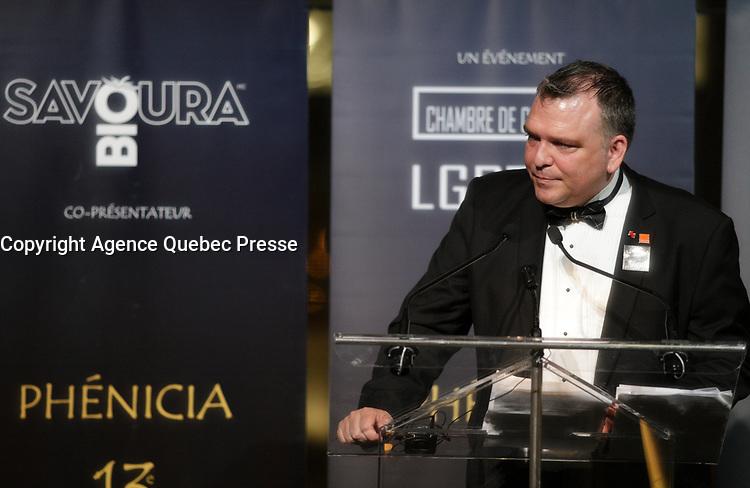 Patrick Desmarais  au<br /> 13 ieme Gala Phenicia , 25 mai 2017