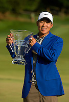PGA Golfer Anthony Kim  after winning the 2008 Wachovia Championships at Quail Hollow Country Club in Charlotte, NC.