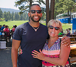 Michael and Nancy during the Barracuda Championship PGA golf tournament at Montrêux Golf and Country Club in Reno, Nevada on Saturday, July 27, 2019.
