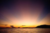SUNSET off GUANAJA ISLAND - BAY ISLANDS, HONDURAS