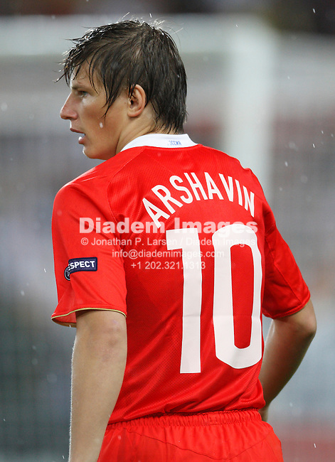 VIENNA - JUNE 26:  Andrei Arshavin of Russia seen during a UEFA Euro 2008 semi-final match against Spain June 26, 2008 at Ernst Happel Stadion in Vienna, Austria.  (Photograph by Jonathan P. Larsen)