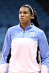 30 October 2013: North Carolina's Erika Johnson. The University of North Carolina Tar Heels played the Carson-Newman College Eagles in a women's college basketball exhibition game at Carmichael Arena in Chapel Hill, North Carolina. UNC won the preseason game 111-50.