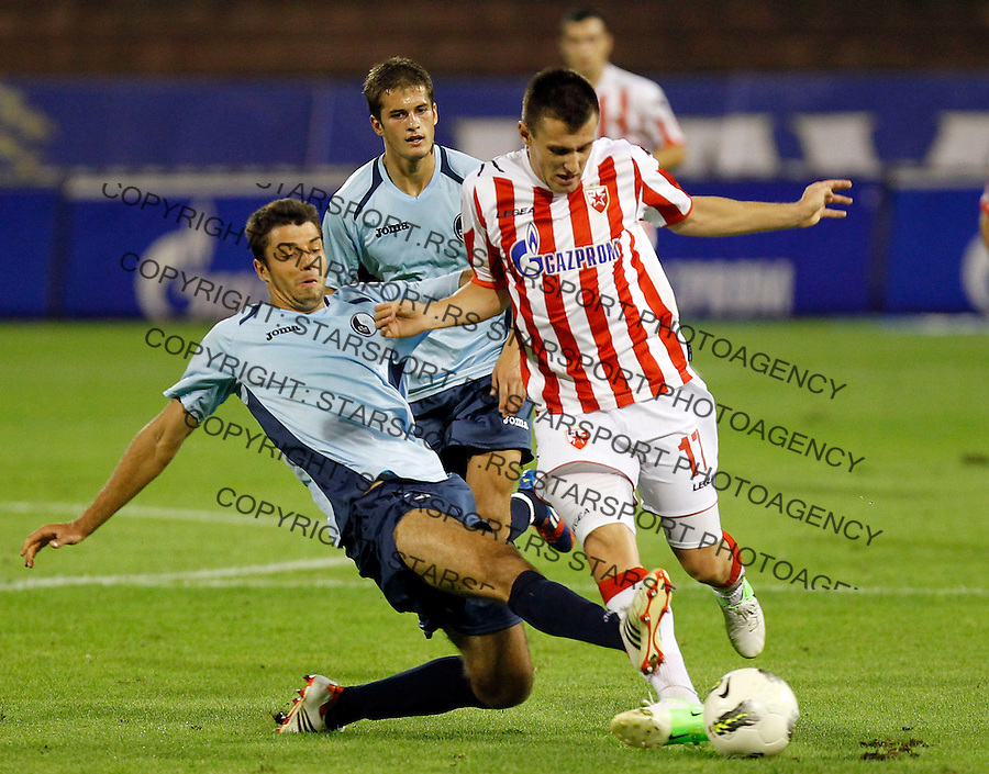 Fudbal, Jelen super liga, season 2012/2013.Rad Vs. Partizan.Filip Kasalica right.Beograd, 19.08.2012..Srdjan Stevanovic/Starsportphoto ©