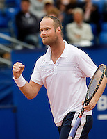 15-7-08, Amersfoort, Tennis, Dutch Open,  Martin Verkerk bald zijn vuist