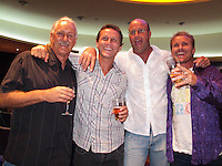 PETER 'JOLI' WILSON (AUS). NATHAN SMITH (AUS), DAVE SPARKES (UAS) AND HILTON DAWE (AUS)  at the Australian Surfing Awards incorporating The Hall Of Fame, Tuesday March 3rd 2009  held at Twin Towns, Coolangatta, Queensland, Australia,   JOLI  won the Australian Surf Photo of the Year for 2008. Photo: joliphotos.com