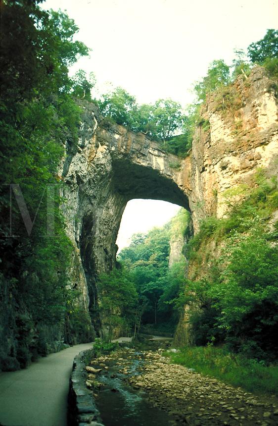 Natural bridge in Virginia. Virginia United States.