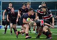 Action from the 2018 Hurricanes Secondary Schools Under-15 Boys' Rugby Tournament match between Feilding High School and Scots College at Fraser Park in Wellington, New Zealand on Thursday, 6 September 2018. Photo: Dave Lintott / lintottphoto.co.nz