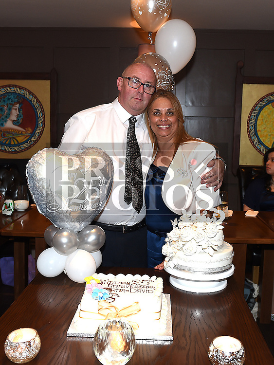 David and Lorna Bradley celebrating their 25th wedding anniversary in Annie's Cafe and Wine Bar in Meatmarket Lane. Photo:Colin Bell/pressphotos.ie