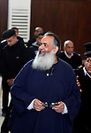 Egypt's Salafi leader and former presidential candidate Hazem Salah Abu Ismail attends his trial in Cairo on April 2, 2016. An egyptian court considers today, Saturday the first trial session of Salafist preacher Hazem Salah Abu Ismail and 17 other defendants over charges of imposing Blockade on Nasr City Court. Photo by Amr Sayed