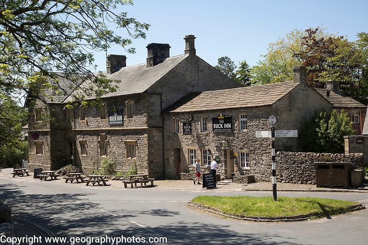 The Buck Inn pub, Malham village, Yorkshire Dales national park, England, UK