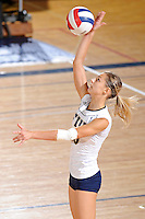 16 October 2010:  FIU outside hitter Marija Prsa (10) serves in the second set as the Western Kentucky Hilltoppers defeated the FIU Golden Panthers, 3-2 (25-19, 23-25, 25-20, 25-27, 15-13), at the U.S Century Bank Arena in Miami, Florida.