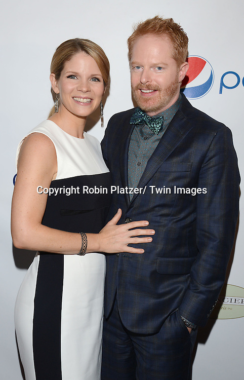 Kelli O'Hara and Jesse Tyler Ferguson attends the 80th Annual Drama League Awards Ceremony and Luncheon on May 16, 2014 at the Marriot Marquis Hotel in New York City, New York, USA.