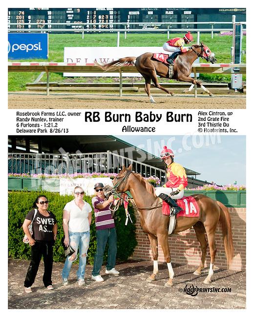 RB Burn Baby Burn winning at Delaware Park on 8/26/2013