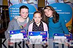 Tara Lyons 11-13 years category Edel Quinn 9-10 years  and Mary Ahern 17-18 years  all from Listowel, winners at the Listowel Credit union art competition in the Listowel Arms Hotel on Friday night.