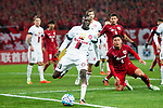Sydney Wanderers Forward Abraham Majok (L) in action during the AFC Champions League 2017 Group F match between Shanghai SIPG FC (CHN) vs Western Sydney Wanderers (AUS) at the Shanghai Stadium on 28 February 2017 in Shanghai, China. Photo by Marcio Rodrigo Machado / Power Sport Images