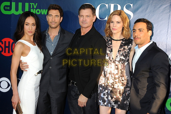 17 July 2014 - West Hollywood, California - Maggie Q, Dylan McDermott, Kevin Williamson, Mariana Klaveno, Victor Rasuk. CBS, CW, Showtime Summer Press Tour 2014 held at The Pacific Design Center. <br /> CAP/ADM/BP<br /> &copy;Byron Purvis/AdMedia/Capital Pictures