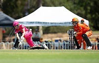 24th November 2019; Lilac Hill Park, Perth, Western Australia, Australia; Womens Big Bash League Cricket, Perth Scorchers versus Sydney Sixers; Erin Burns of the Sydney Sixers plays a sweep shot - Editorial Use