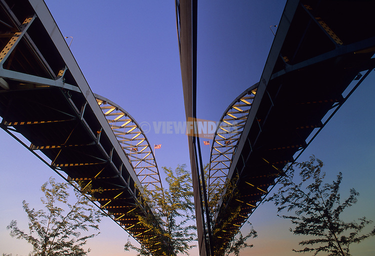 Reflection of Fremont Bridge in a Window