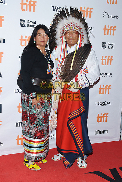 11 September 2017 - Toronto, Ontario Canada - Lynette Two Bulls, Chief Philip Whitman Jr.. 2017 Toronto International Film Festival - &quot;Hostiles&quot; Premiere held at Princess of Wales Theatre. <br /> CAP/ADM/BPC<br /> &copy;BPC/ADM/Capital Pictures