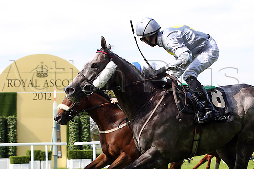 20.06.2012. Royal Ascot, Berkshire, England. Prince of Johanne Right with John Fahy Up Wins The Royal Hunt Cup Ascot Racecourse as they pass the finish line on day 2 of the event