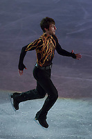 Brian Joubert of France placed 8th in the Men's Figure Skating competition performs during the gala exhibition of the ISU European Figure Skating Championships in Budapest, Hungary on January 19, 2014. ATTILA VOLGYI
