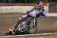 Heat 7: Justin Sedgmen - Lakeside Hammers vs Peterborough Panthers - Sky Sports Elite League Speedway at Arena Essex Raceway, Purfleet - 14/09/12 - MANDATORY CREDIT: Gavin Ellis/TGSPHOTO - Self billing applies where appropriate - 0845 094 6026 - contact@tgsphoto.co.uk - NO UNPAID USE.