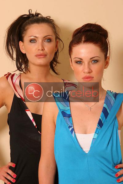 "Ksenia Linkova and Katia Jones of ""RU"" wearing Abi Ferrin designs"