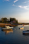 Boats at Newagen, Southport, Maine, USA