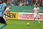 11.08.2019, Carl-Benz-Stadion, Mannheim, GER, DFB Pokal, 1. Runde, SV Waldhof Mannheim vs. Eintracht Frankfurt, <br /> <br /> DFL REGULATIONS PROHIBIT ANY USE OF PHOTOGRAPHS AS IMAGE SEQUENCES AND/OR QUASI-VIDEO.<br /> <br /> im Bild: Ante Rebic (Eintracht Frankfurt #4) gegen Jan Hendrik Marx (SV Waldhof Mannheim #26) trifft das Tor zum 3:4<br /> <br /> Foto © nordphoto / Fabisch