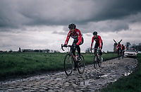 Lars Bak (DEN/Lotto-Soudal)<br /> <br /> parcours recon of the 116th Paris-Roubaix 2018, 3 days prior to the race