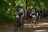 NWA Democrat-Gazette/BEN GOFF @NWABENGOFF<br /> Category 3 women start by age group Sunday, June 11, 2017, during the Battle for Townsend's Ridge mountain bike race at Hobbs State Park - Conservation Area near Rogers. The cross country race, presented by Ozark Off Road Cyclists, is part of the Arkansas Mountain Bike Championship Series. This year entry fees for racers 14 and younger were covered by Ozark Off Road Cyclists.