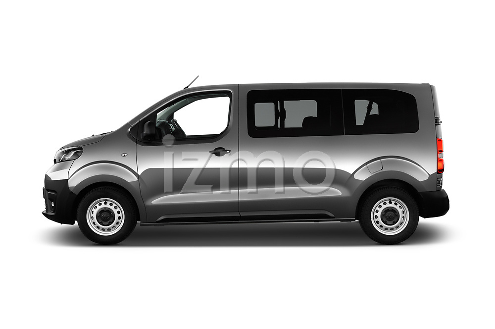Car Driver side profile view of a 2017 Toyota Proace-Verso Medium 5 Door Passenger Van Side View
