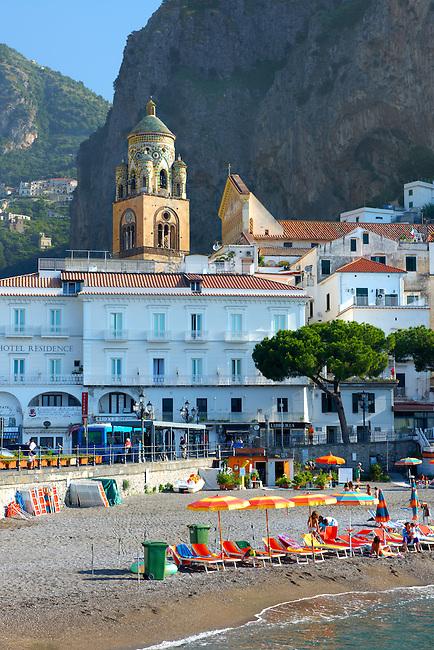 Beach  of Amalfi, Italy