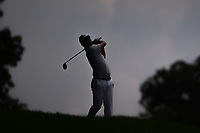 Andrew Landry (USA) is silhouetted as he hits his second shot 16 during 1st round of the World Golf Championships - Bridgestone Invitational, at the Firestone Country Club, Akron, Ohio. 8/2/2018.<br /> Picture: Golffile | Ken Murray<br /> <br /> <br /> All photo usage must carry mandatory copyright credit (© Golffile | Ken Murray)
