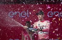 Maglia Rosa / overall leader Tom Dumoulin (NED/Sunweb)<br /> <br /> Stage 17: Tirano &rsaquo; Canaze (219km)<br /> 100th Giro d'Italia 2017