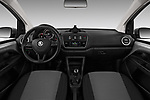 Stock photo of straight dashboard view of a 2017 Skoda Citigo Ambition 5 Door Hatchback