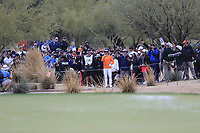 Rickie Fowler (USA) playing off the path on the 3rd during the final round of the Waste Management Phoenix Open, TPC Scottsdale, Scottsdale, Arisona, USA. 03/02/2019.<br /> Picture Fran Caffrey / Golffile.ie<br /> <br /> All photo usage must carry mandatory copyright credit (&copy; Golffile | Fran Caffrey)