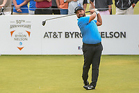 J.J. Spaun (USA) watches his tee shot on 1 during round 4 of the AT&T Byron Nelson, Trinity Forest Golf Club, at Dallas, Texas, USA. 5/20/2018.<br /> Picture: Golffile | Ken Murray<br /> <br /> All photo usage must carry mandatory copyright credit (© Golffile | Ken Murray)