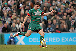 Freddie Burns of Leicester Tigers - Aviva Premiership - Leicester Tigers vs Sale Sharks - Season 2014/15 - 28th February 2015 - Photo Malcolm Couzens/Sportimage