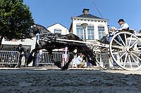 ALGEMEEN: JOURE: Midstraat, 25-07-2012, 58e Boerebrulloft Joure, Grote Ringrijderij georganiseerd door 'Het Friese Tuigpaard', ©foto Martin de Jong