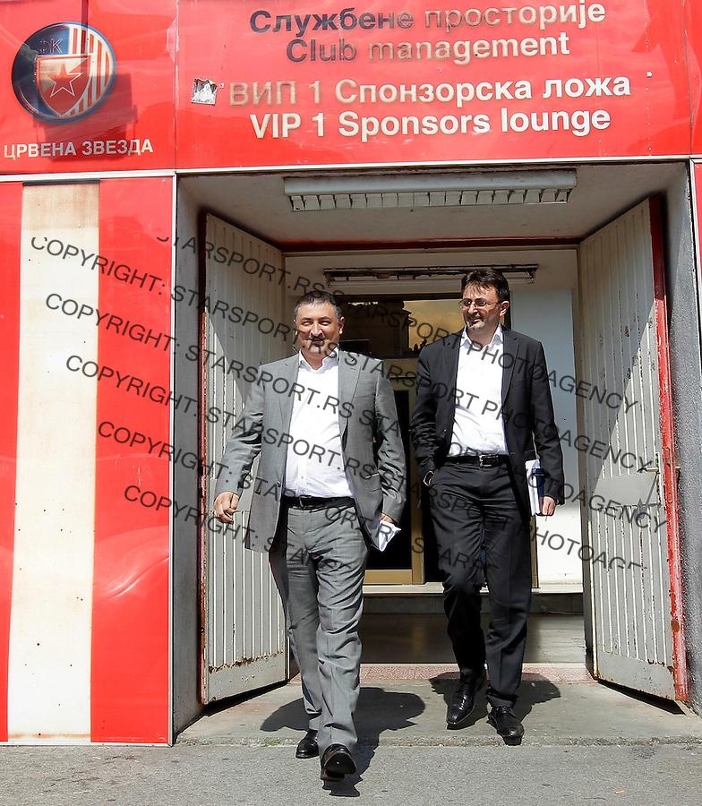 Fudbal season 2013-2014<br /> FK Crvena Zvezda-Upravni Odbor<br /> Ivica Toncev (L) and Predrag Culibrk<br /> Beograd, 06.06.2014.<br /> foto: Srdjan Stevanovic/Starsportphoto &copy;