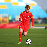 16th November 2019; Leckwith Stadium, Cardiff, Glamorgan, Wales; European Championship Under 19 2020 Qualifiers, Russia under 19s versus Wales under 19s; Sam Pearson of Wales Under 19 - Editorial Use