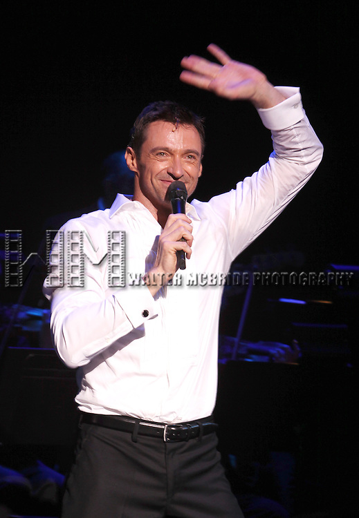 Hugh Jackman during his Opening Night Curtain Call for 'Hugh Jackman, Back On Broadway'  at the Broadhurst Theatre in New York City..