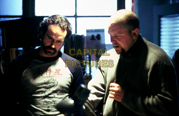 JASON PATRIC & JOE CARNAHAN (WRITER/DIRECTOR).on the set of Narc.Ref: FBAW11813.*Editorial Use Only*.www.capitalpictures.com.sales@capitalpictures.com.Supplied by Capital Pictures.