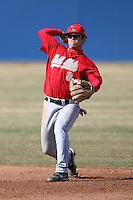 April 5, 2009:  /2b/ Nate Fields (2) of the Ball State Cardinals during a game at Amherst Audubon Field in Buffalo, NY.  Photo by:  Mike Janes/Four Seam Images